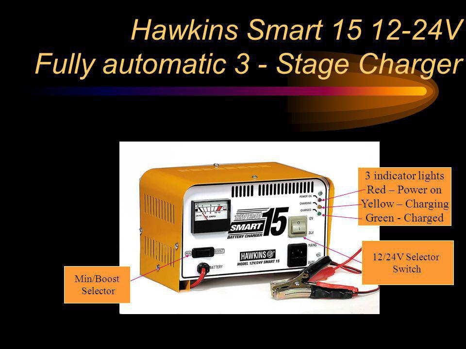 Hawkins Smart 15 12-24V Fully automatic 3 - Stage Charger