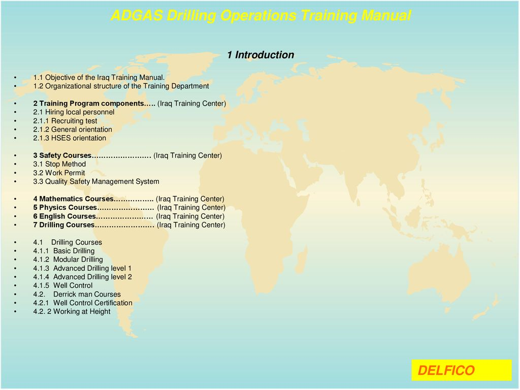 ADGAS Drilling Operations Training Manual