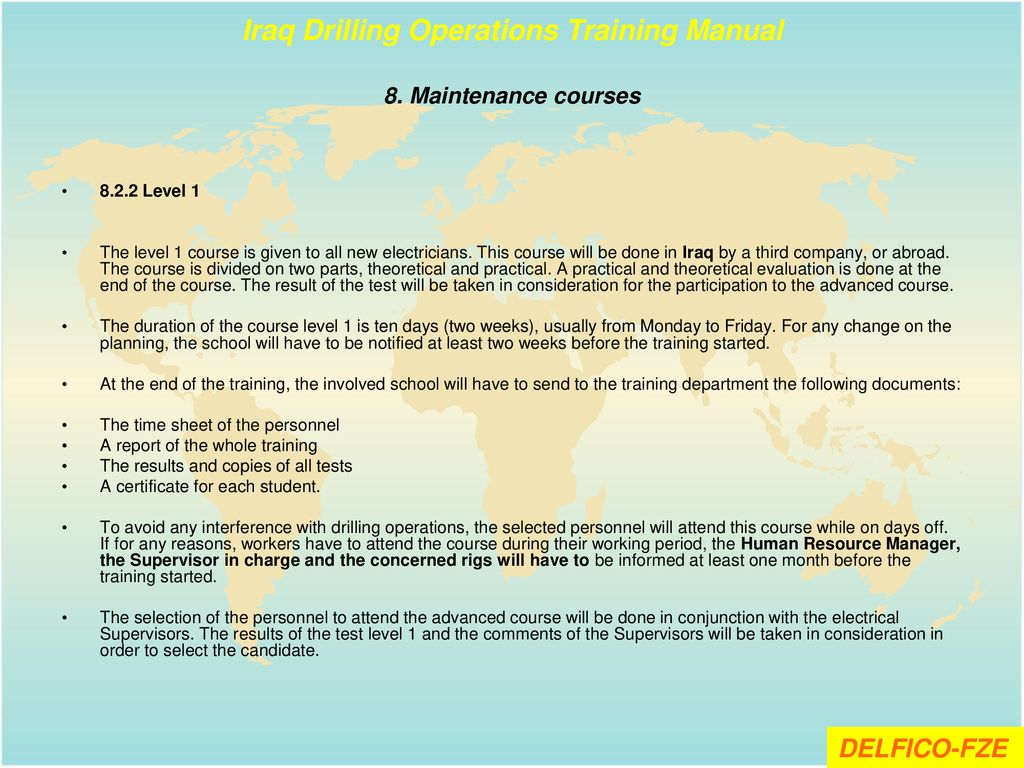 Iraq Drilling Operations Training Manual