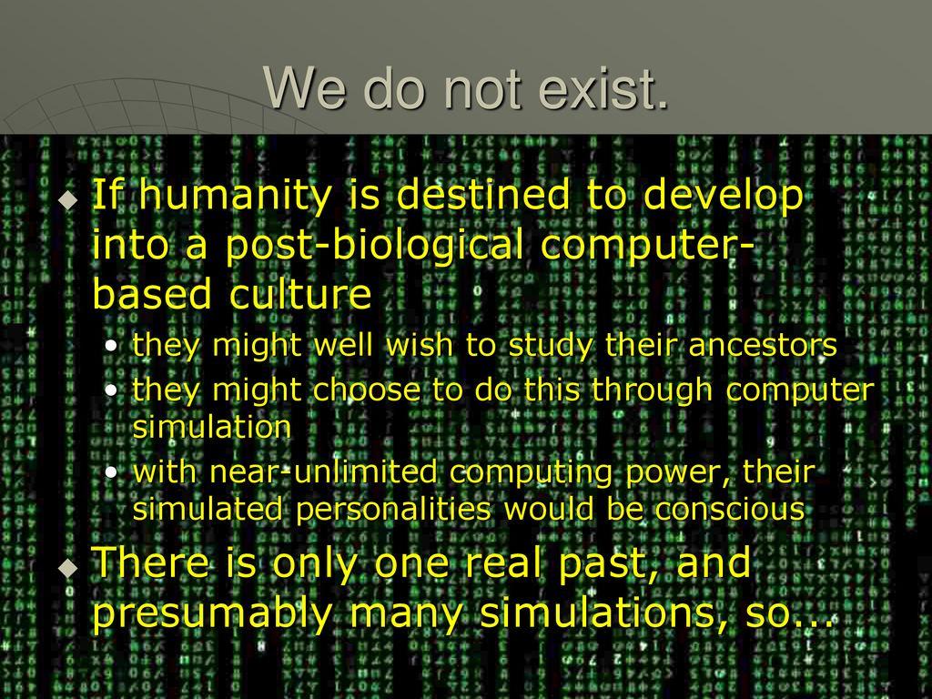 do ancestors exist