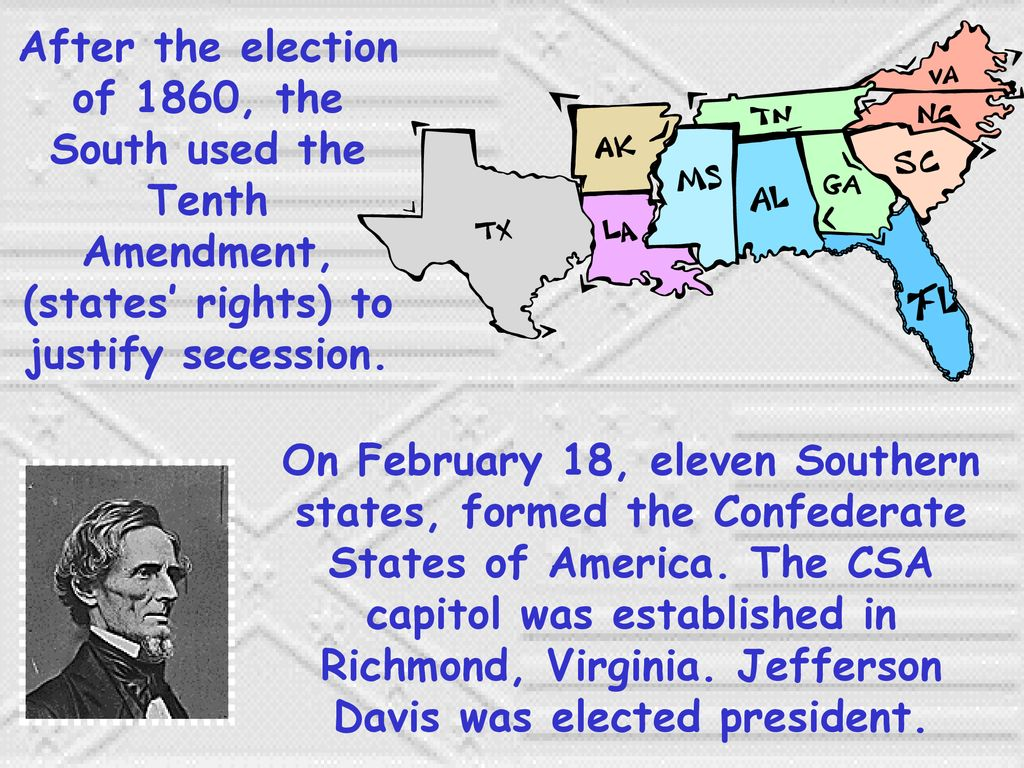 how did the confederate states justify secession