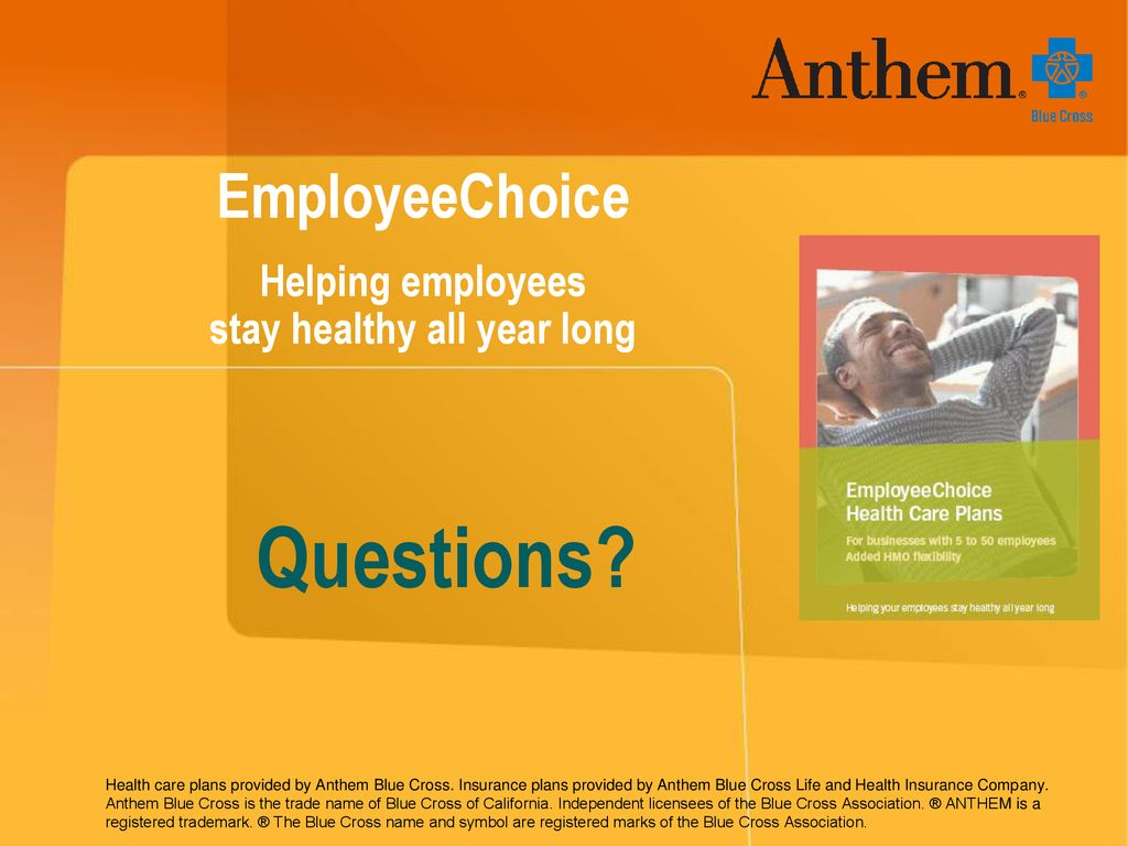 EmployeeChoice Helping employees stay healthy all year long