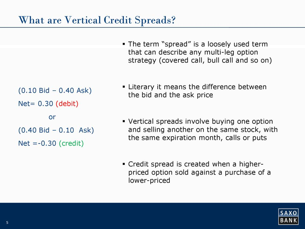WOW14 – Trading credit spreads (cash inflow I) - ppt download