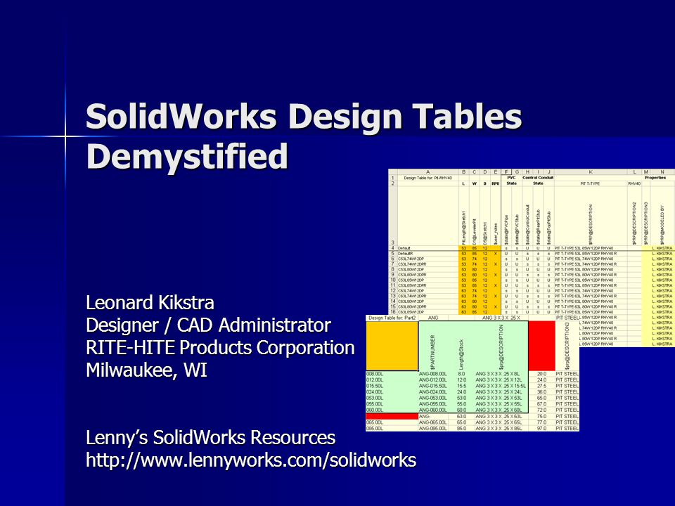 SolidWorks Design Tables Demystified - ppt download