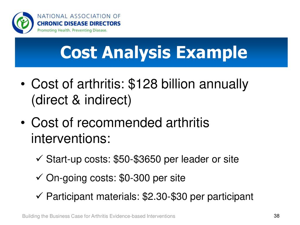 Building the Business Case for Arthritis Evidence-based