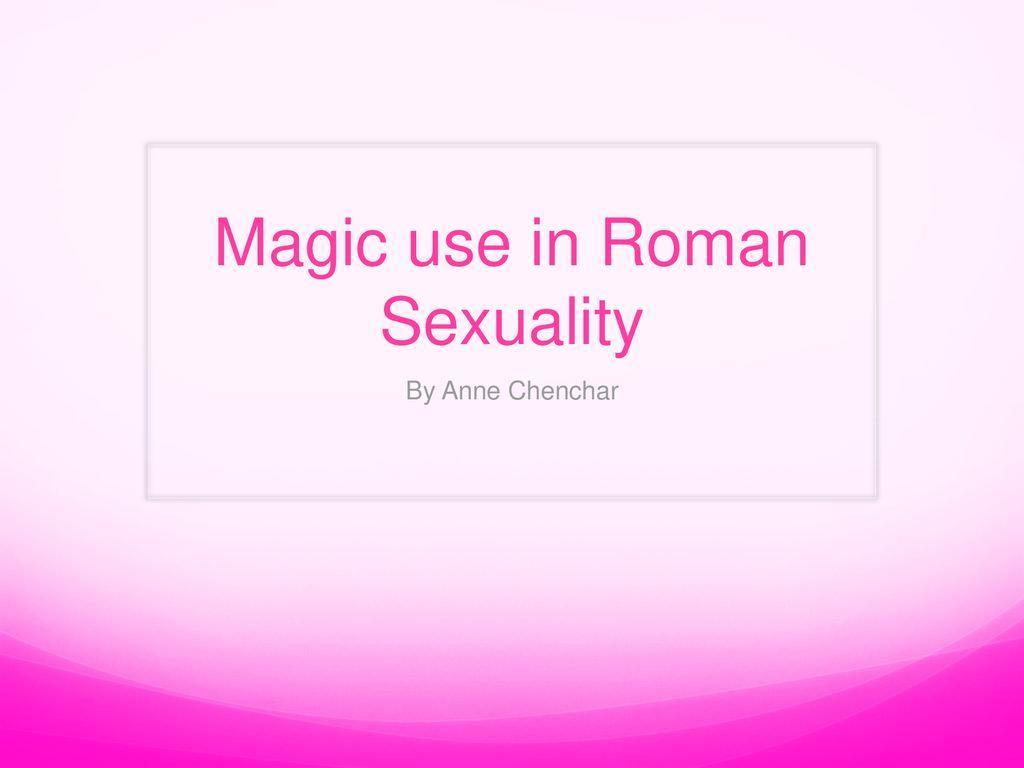 roman sexualities