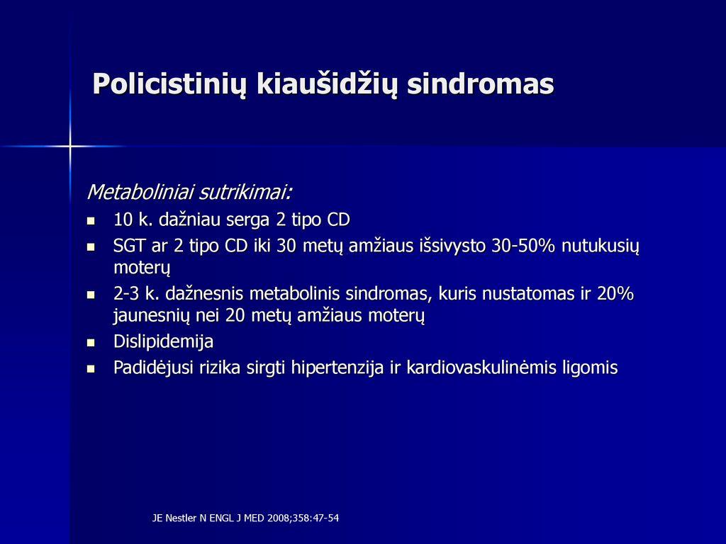 kiaušidžių hipertenzija)