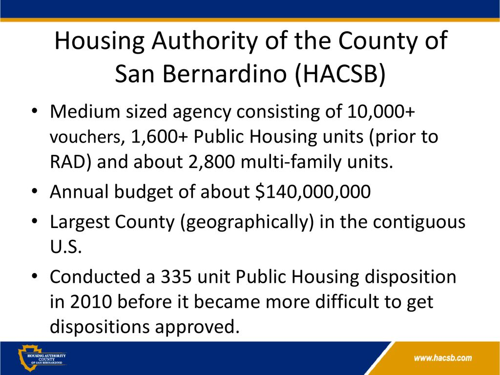 Housing Authority of the County of San Bernardino - ppt download