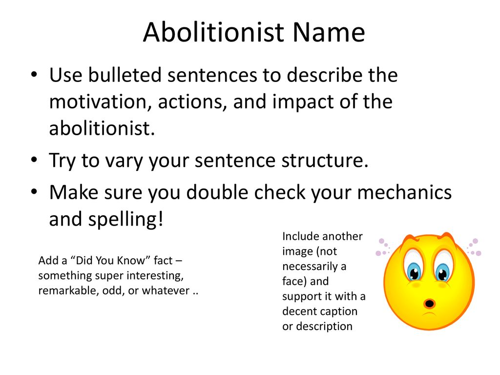abolitionist used in a sentence