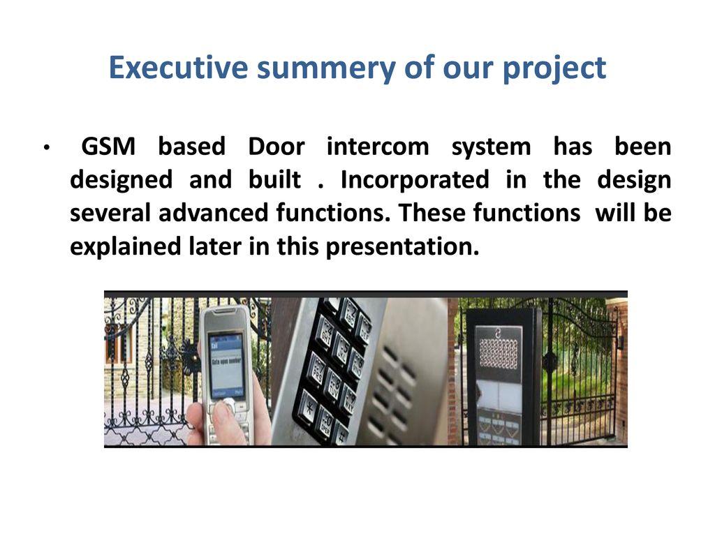 ADVANCED GSM BASED DOOR INTERCOM SYSTEM - ppt download