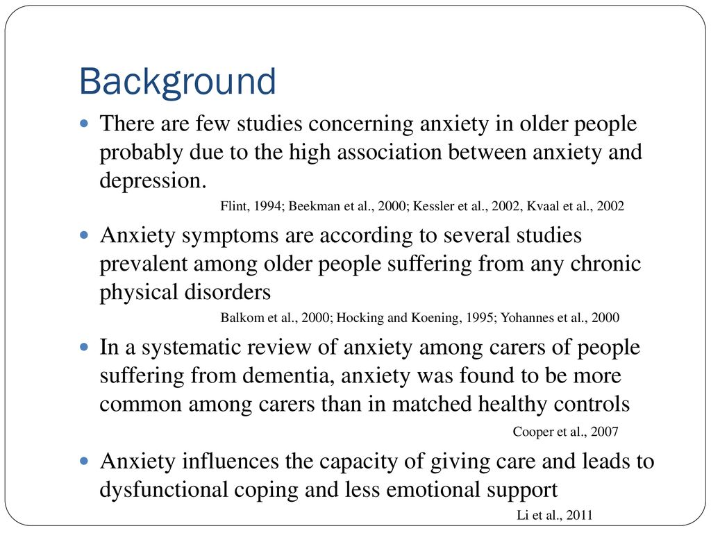 High prevalence of anxiety symptoms in spouses of persons