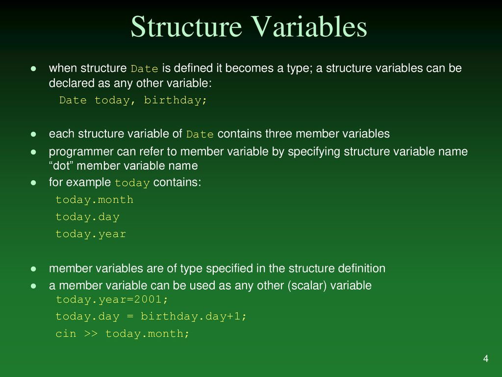 structures putting data together. - ppt download