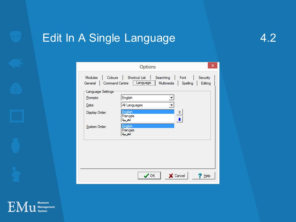 Edit In A Single Language 4.2
