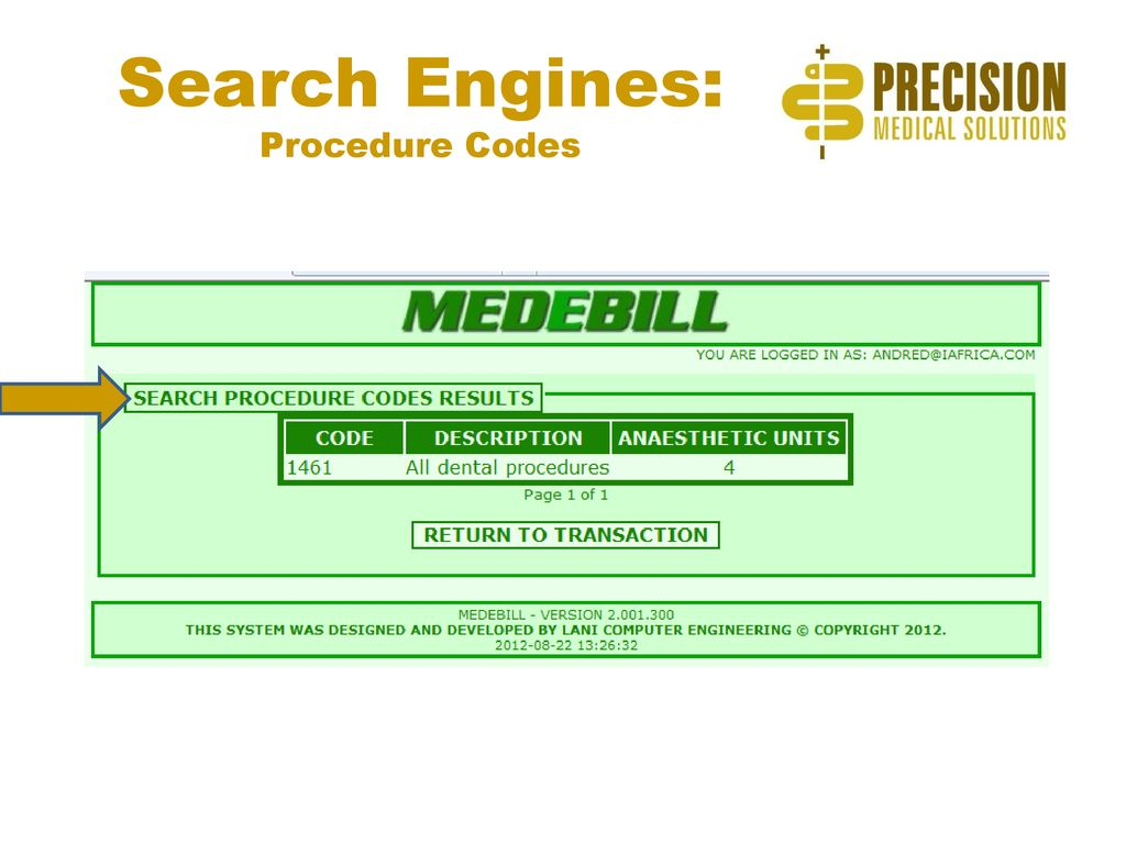 MEDEBILL: An Example of the Precision Advantage! - ppt download