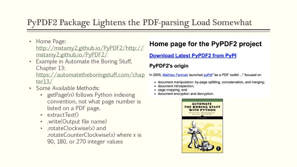 Working with PDF Files NOTE: - ppt download