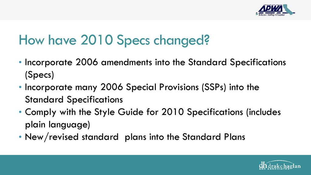 Caltrans 2010 standard specifications - ppt download