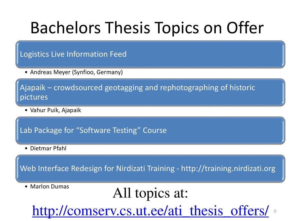 logistics thesis topics