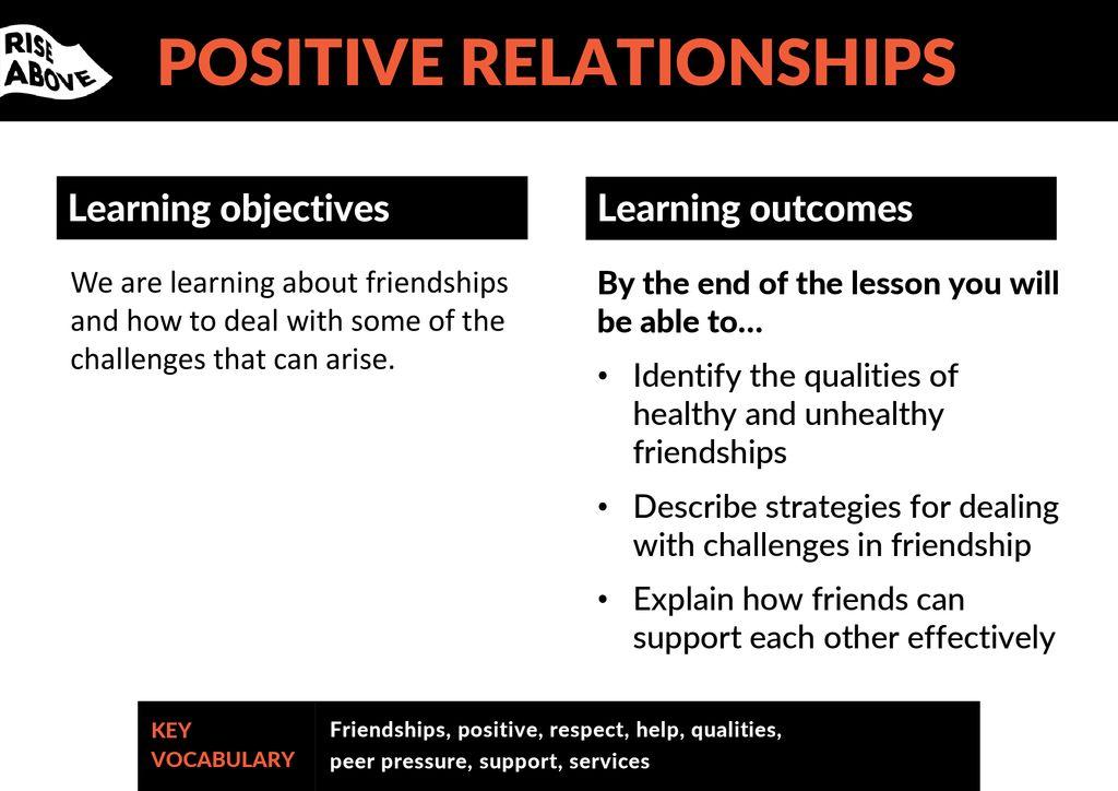 POSITIVE RELATIONSHIPS - ppt download