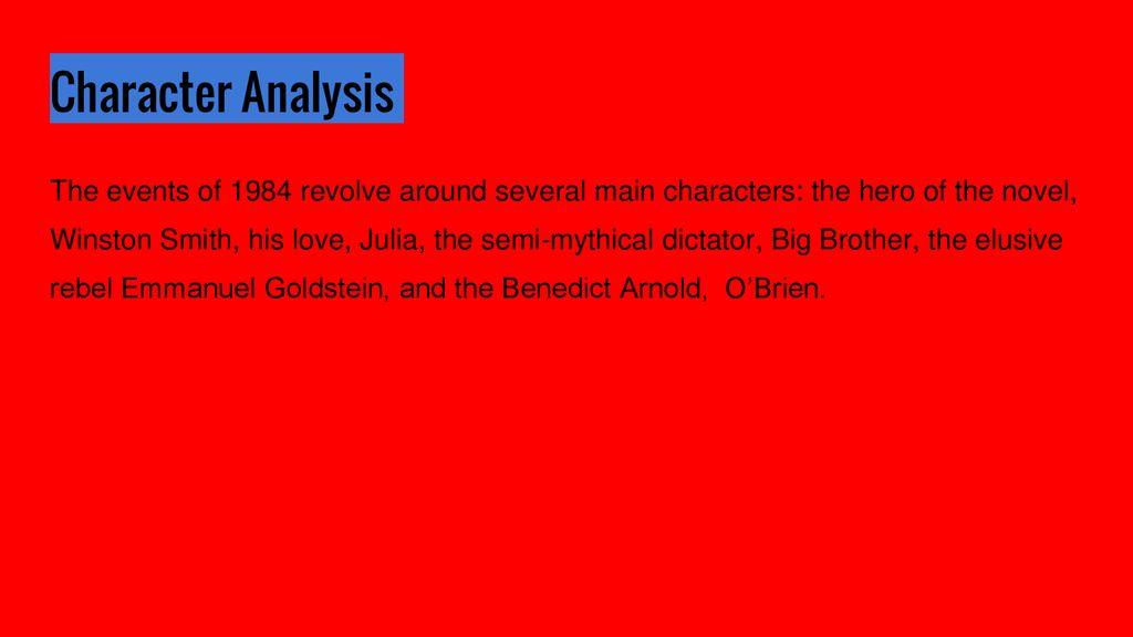 o brien 1984 character analysis