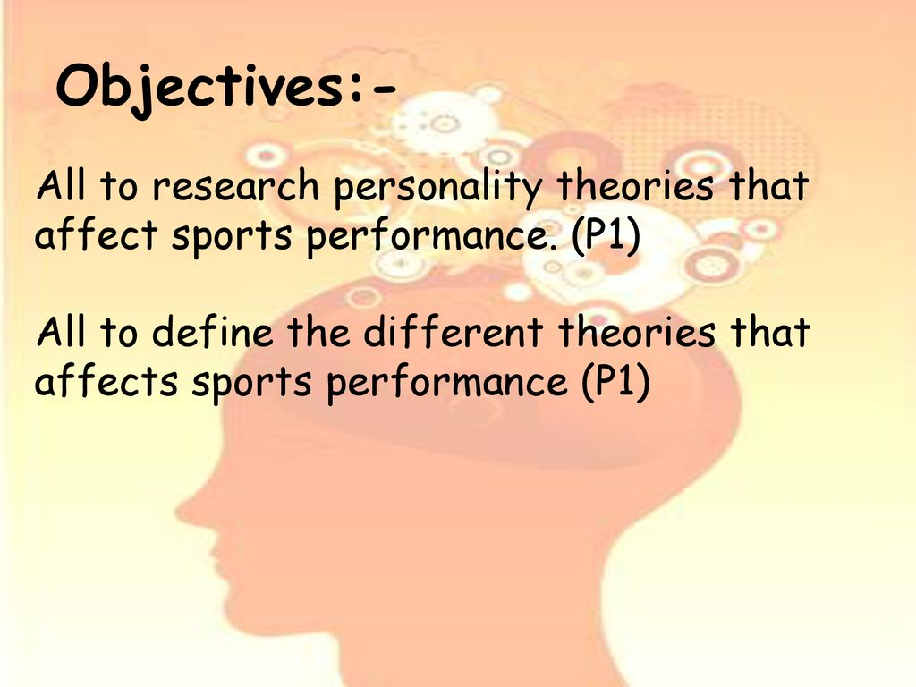how can personality affect sports performance