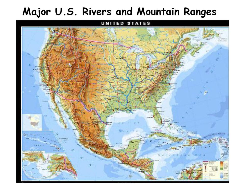 Major U.S. Rivers and Mountain Ranges - ppt download