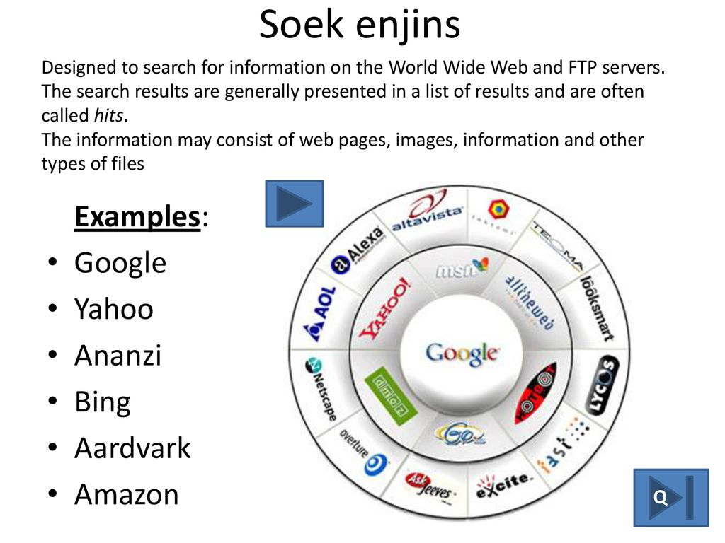 browser search engine web page - ppt download