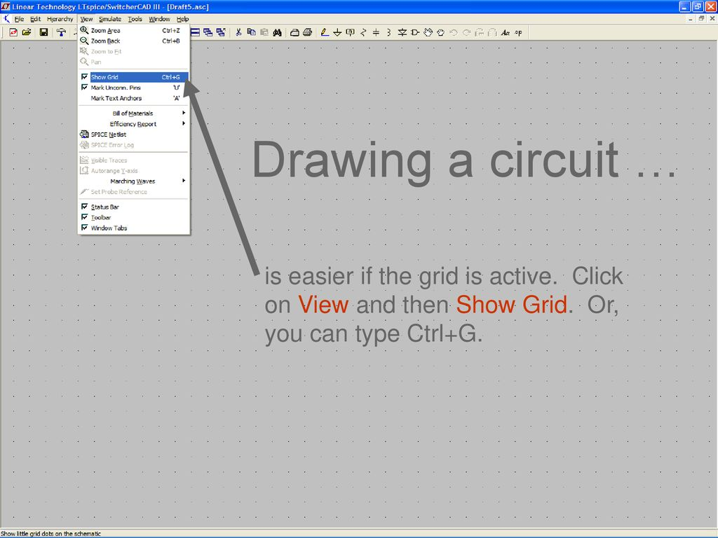 3spice Circuit Simulation The Main Window Of The Application Allows