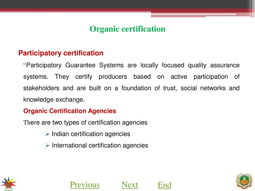 Organic Certification Ppt Download
