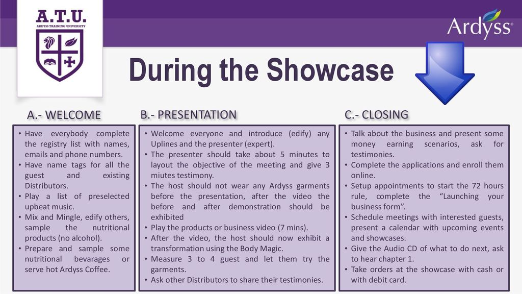 Showcase Training  - ppt download