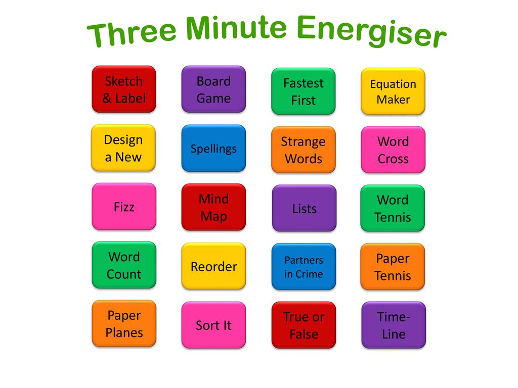 Three Minute Energiser - ppt download