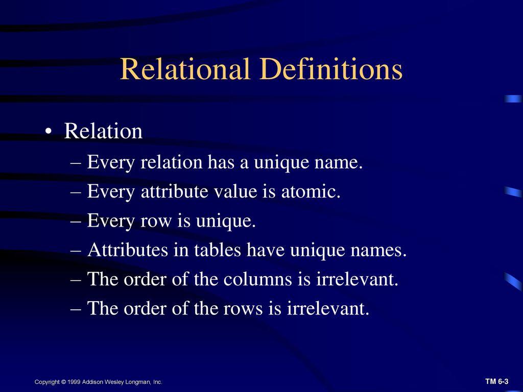 Relational Database Ppt Download