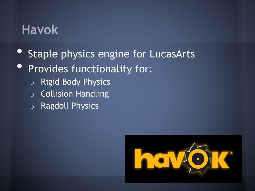 Physics in Games David: Achieving Fun with Physics - ppt