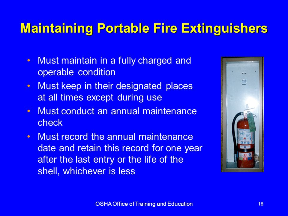 Maintaining Portable Fire Extinguishers