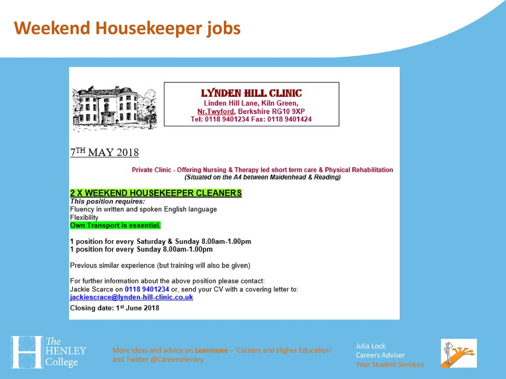 part-time job opportunities - ppt download
