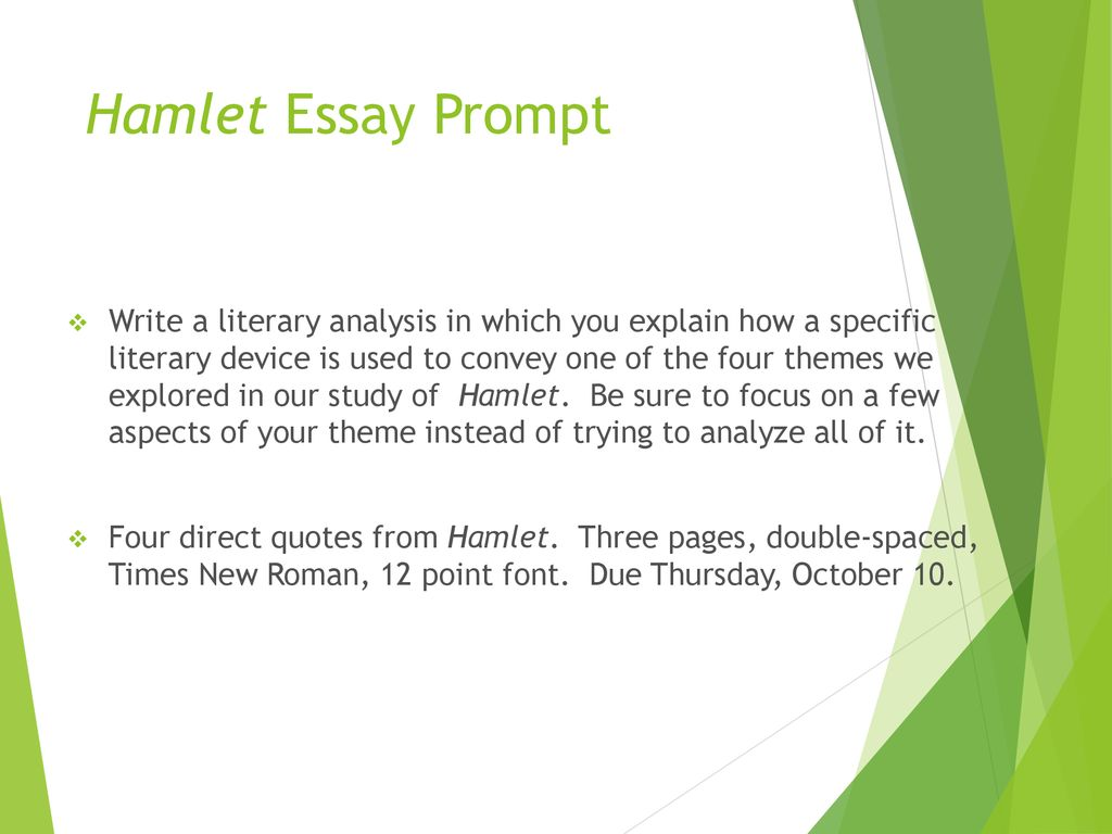 Essay On Photosynthesis Hamlet Essay Prompt Essay About Learning English Language also Example Of A Proposal Essay Hamlet Prereading Questions  Ppt Download Thesis For Persuasive Essay