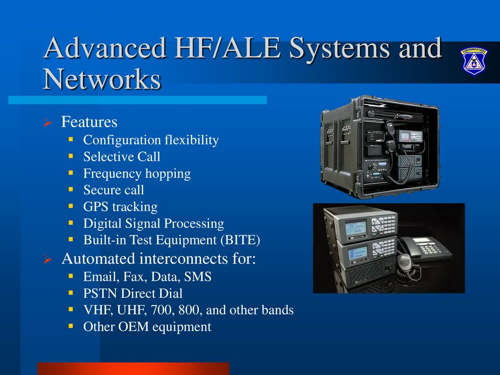 An Introduction to High Frequency Radio Communications and ALE - ppt