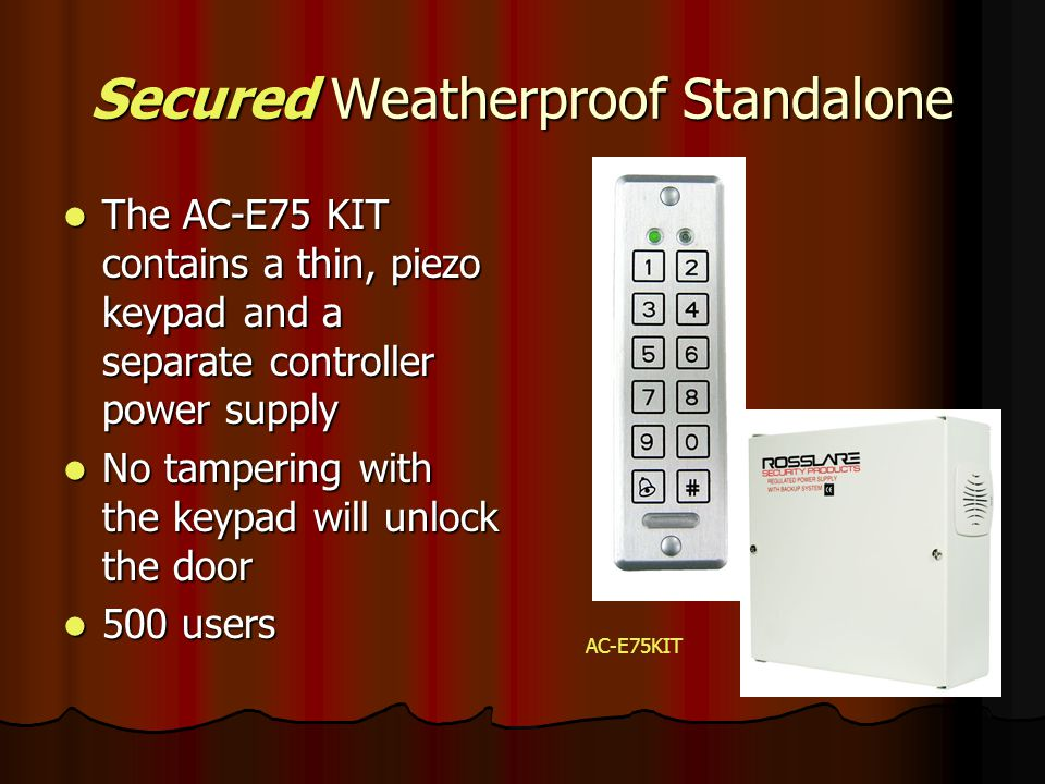 Standalone Controller with Piezoelectric Keypad AC Q44 Rosslare