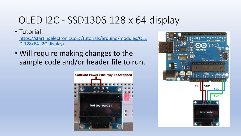 Displays and I2C(IIC) communications - ppt download