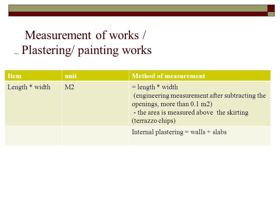 Specification Quantities Estimating Ppt Download