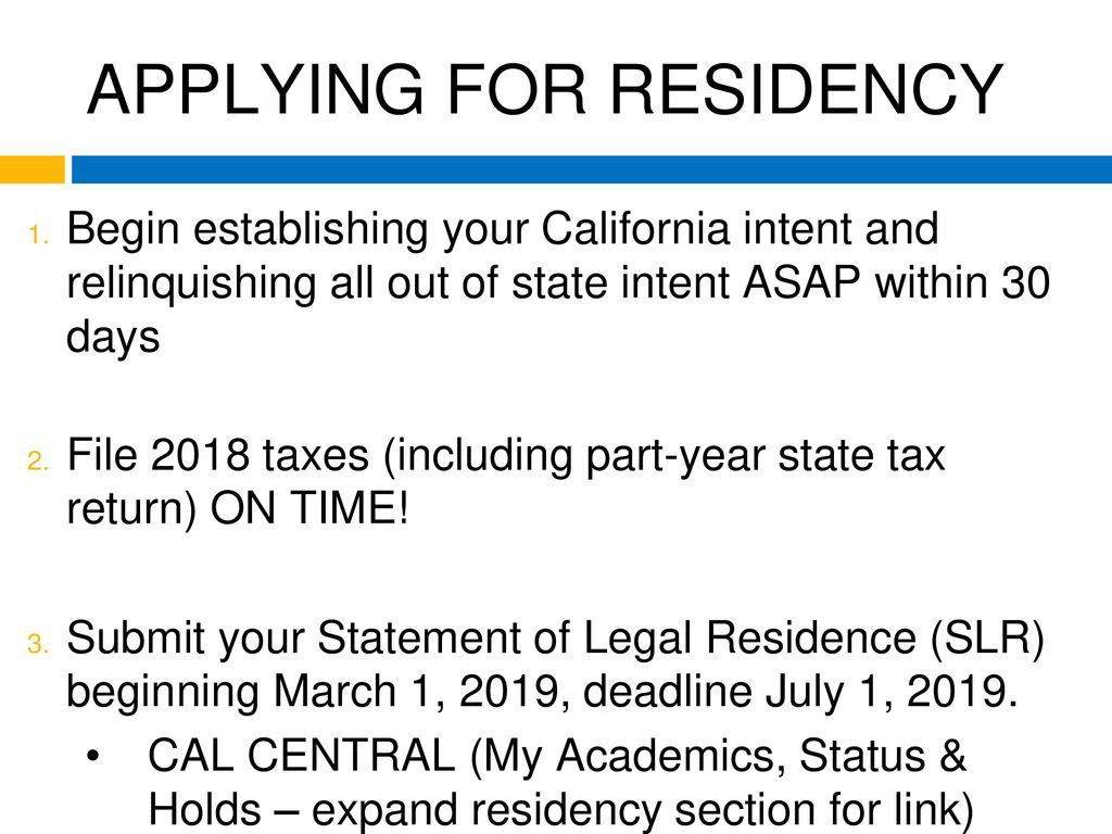ESTABLISHING RESIDENCY FOR TUITION PURPOSES - ppt download