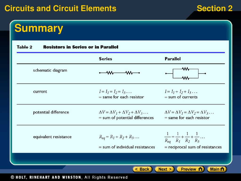 Preview Section 1 Schematic Diagrams And Circuits Ppt Download Circuit Simulator Resistors Summary Try Using The Phet Simulation At