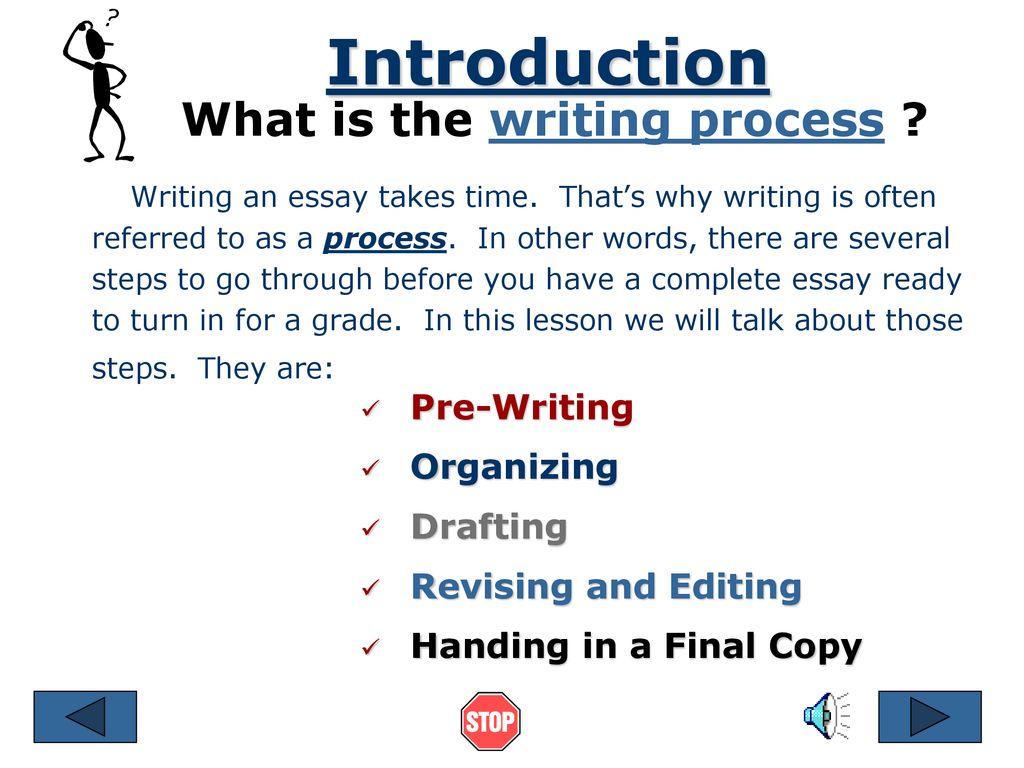 essay writing process steps