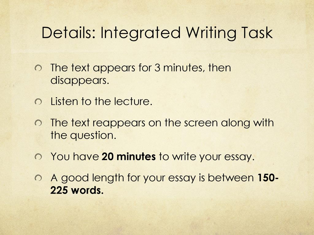 how to write an integrated essay
