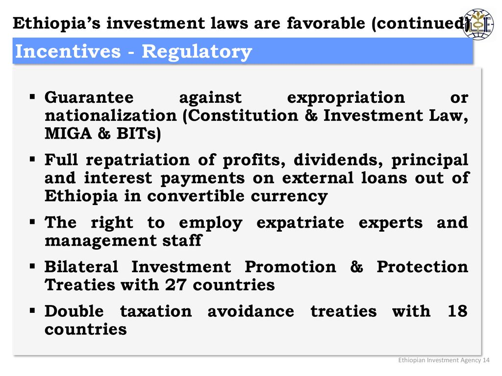 Overview of Ethiopian Investment Opportunities and Policies