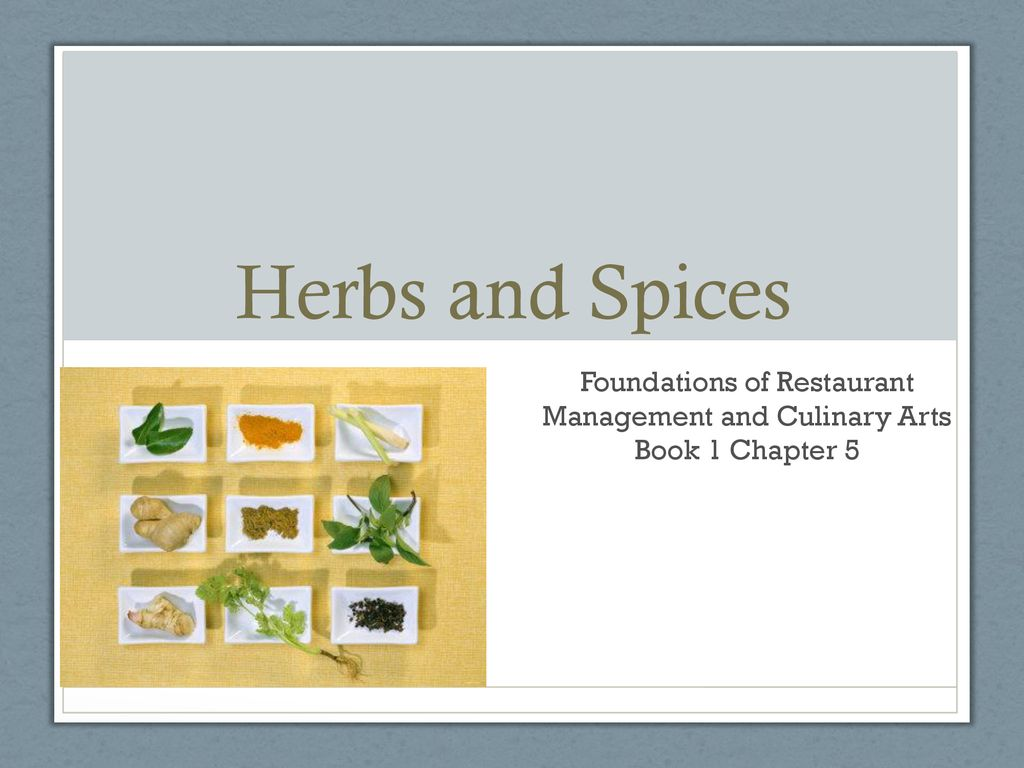 foundations of restaurant management and culinary arts ppt download