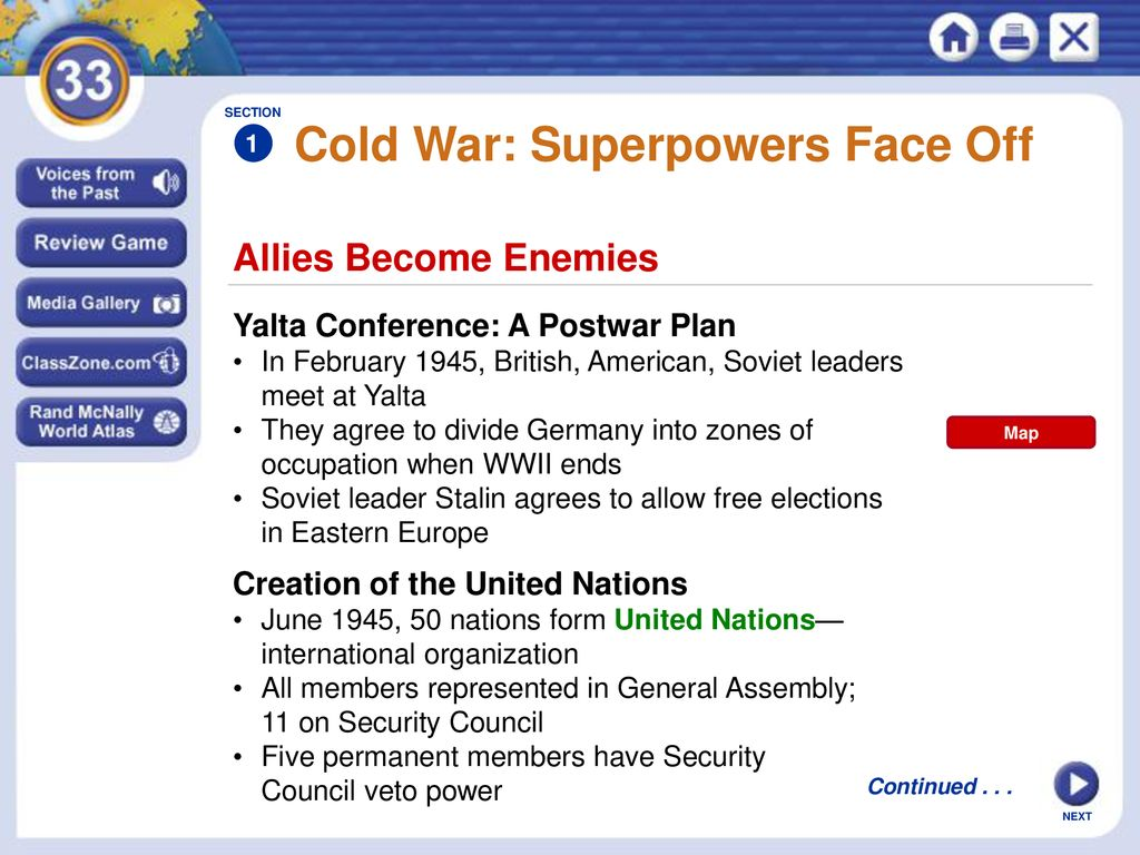 5 Cold War: Superpowers Face Off SECTION 1 ...