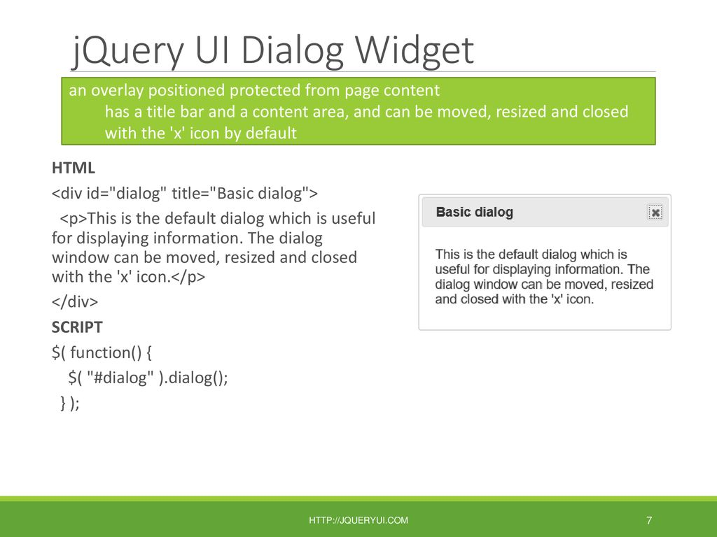 JQuery UI Plug-ins, Object Models & the Window Object - ppt