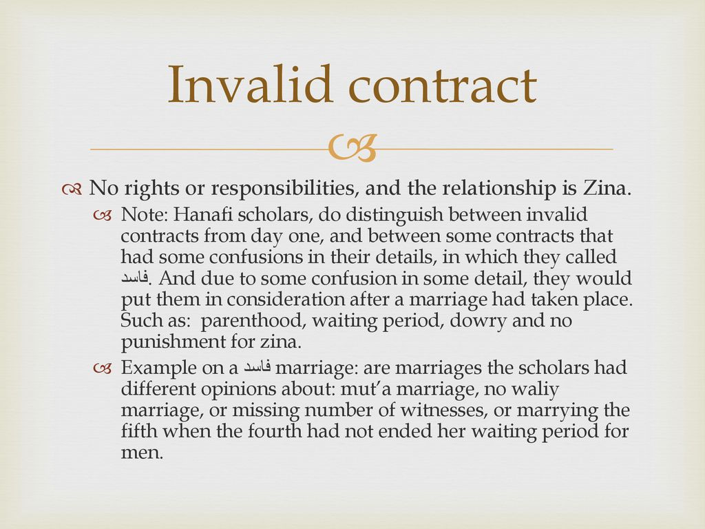 Marriage contracts in terms of validity - ppt download