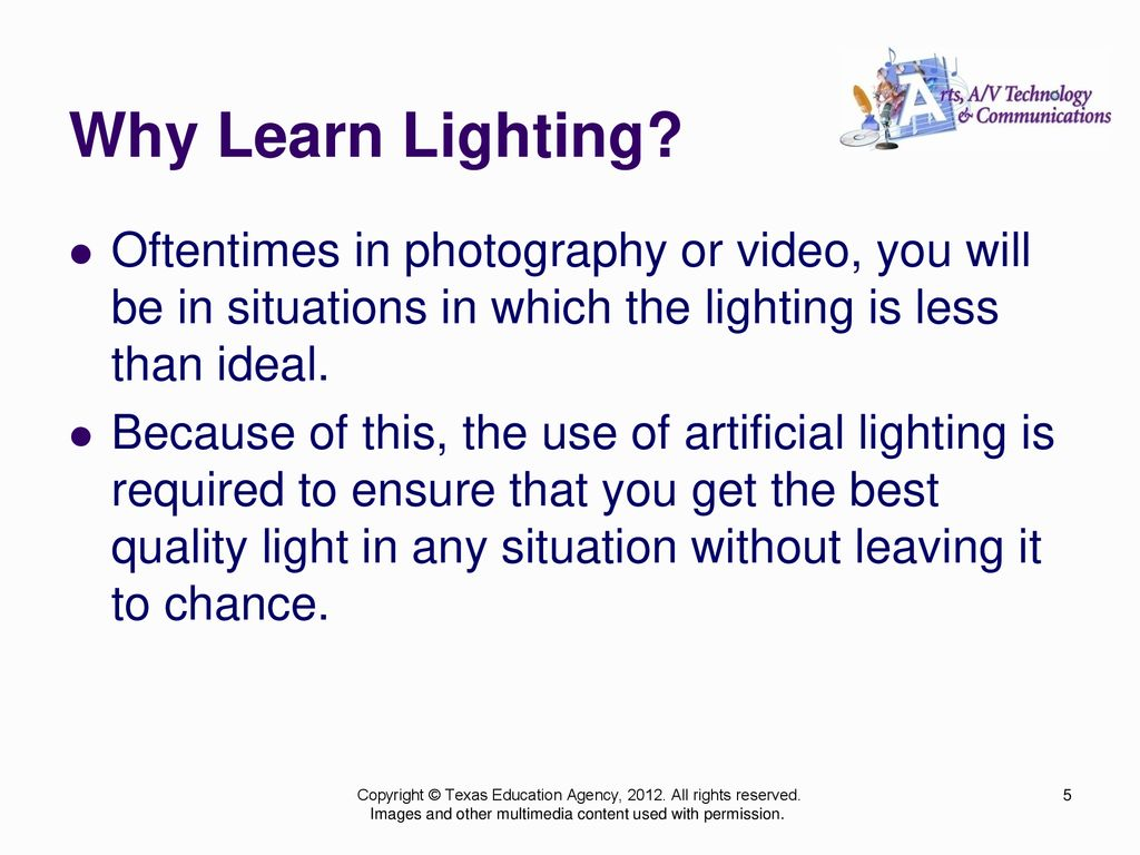 Lighting: The Ins and Outs of Lighting in Various Forms of