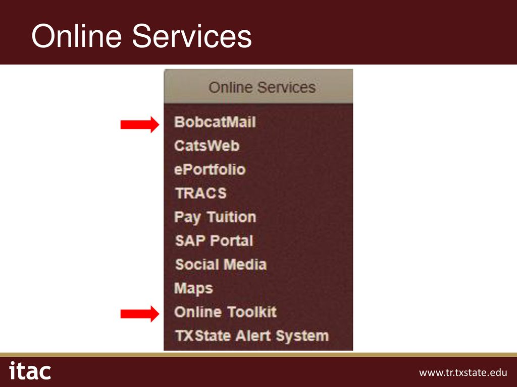 Technology Resources Welcome to Texas State!  - ppt download